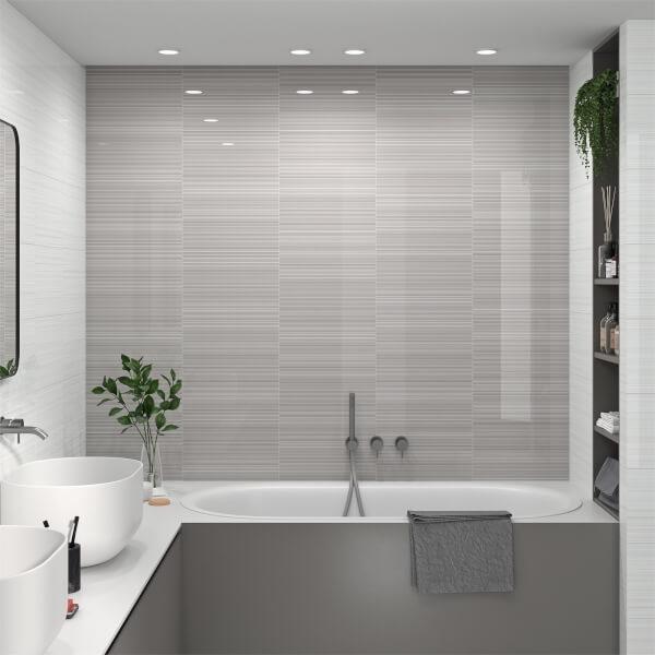 Manhattan Linea White Wall Tile - 400 x 250mm