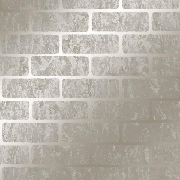 Superfresco Milan Brick Taupe Wallpaper