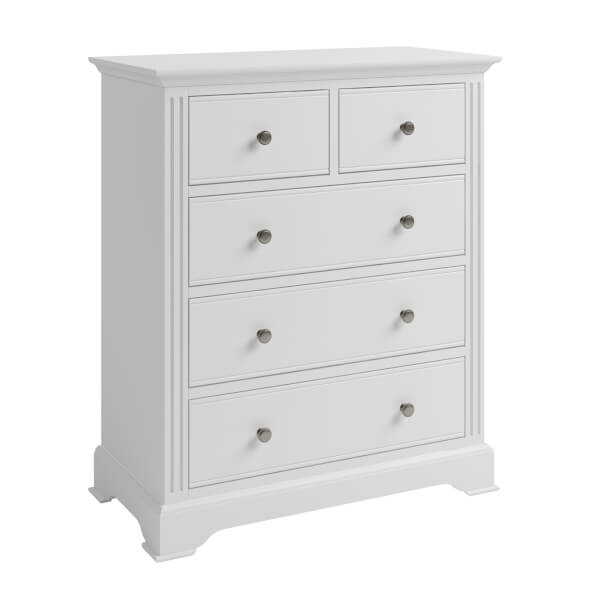 Camborne 2 Over 3 Chest of Drawers - White