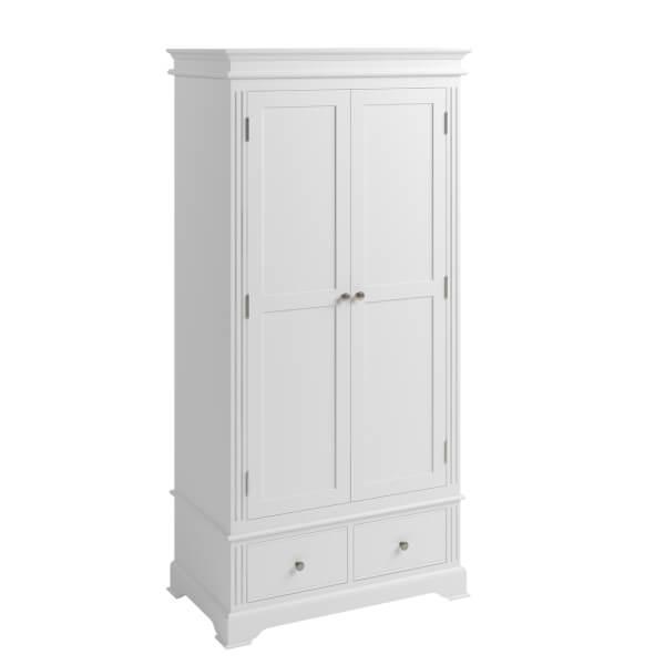 Camborne Double Wardrobe - White