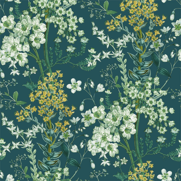 Holden Decor Ayana Floral Smooth  Teal Wallpaper