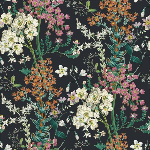 Holden Decor Ayana Floral Smooth  Black Wallpaper