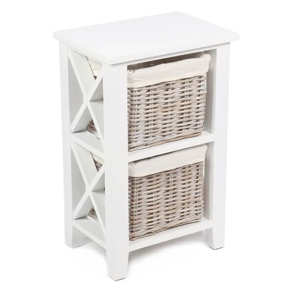 Bude 2 Wicker Baskets Cabinet