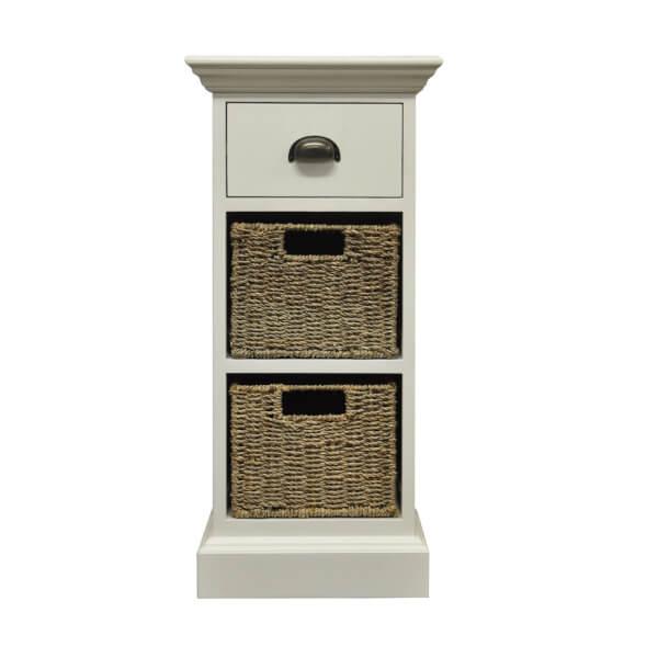 Holywell 1 Drawer 2 Wicker Basket Cabinet