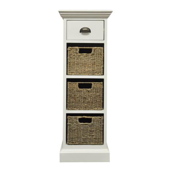 Holywell 1 Drawer 3 Wicker Basket Cabinet