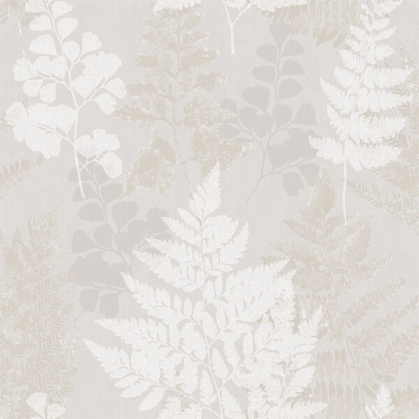 Holden Decor Bramble Leaf Smooth Grey and Gold Wallpaper