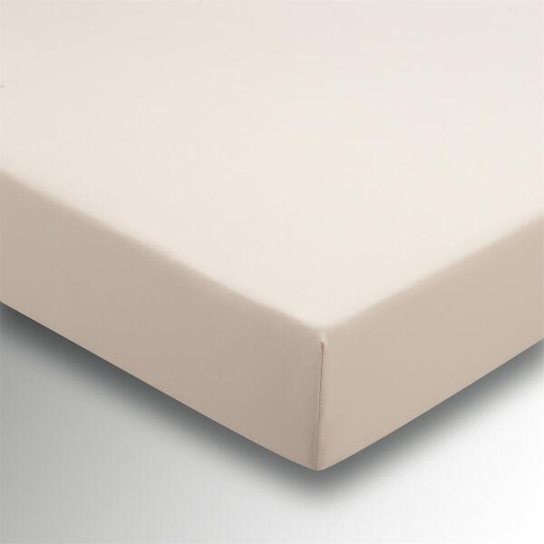 Helena Springfield Plain Dye Fitted Sheet - Double - Linen
