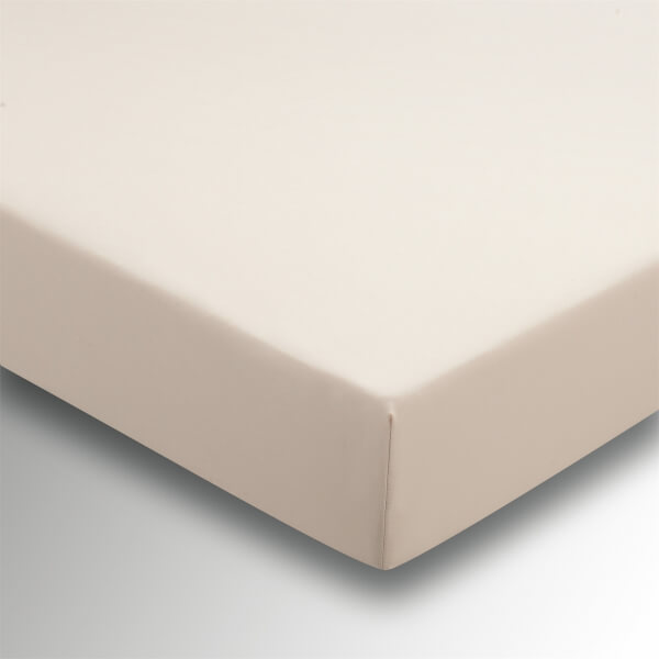 Helena Springfield Plain Dye 36cm Deep Fitted Sheet - Double - Linen