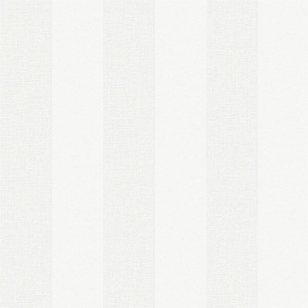 Superfresco Paintable Stripe White Wallpaper