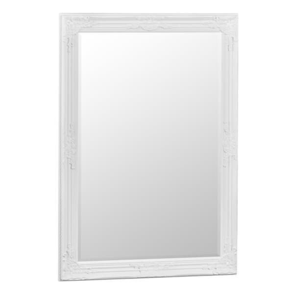 Valencia Small White Accent Mirror