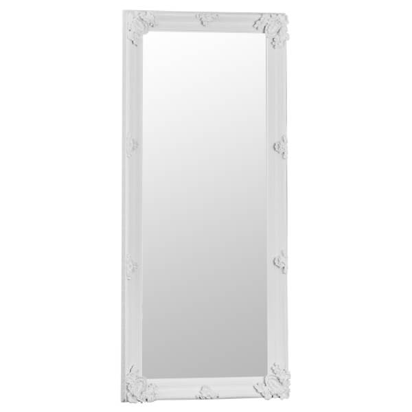 Madrid Large White Accent Mirror
