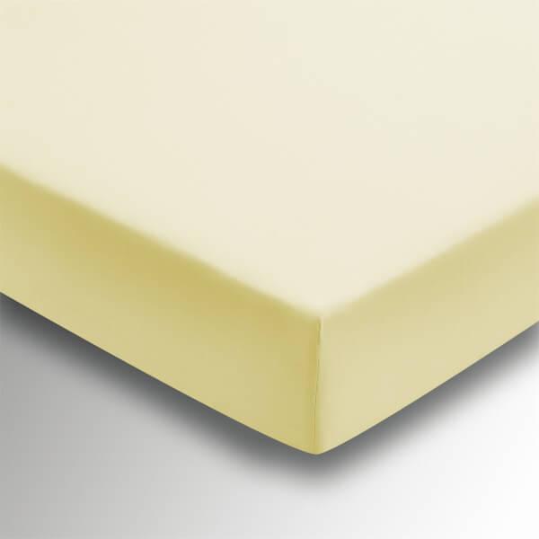 Helena Springfield Plain Dye Fitted Sheet - Super King - Citron