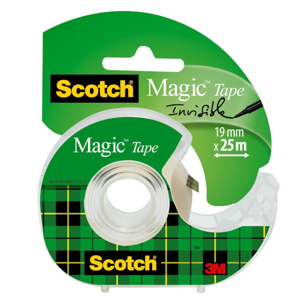 Scotch Magic Tape on Hand Held Dispenser - 19mm x 25m