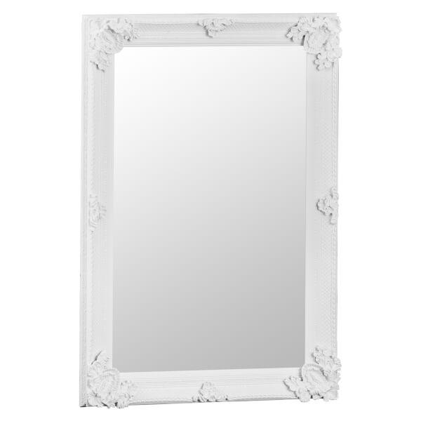 Madrid Small White Accent Mirror