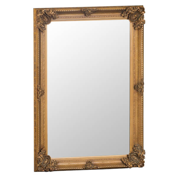 Madrid Small Gold Accent Mirror