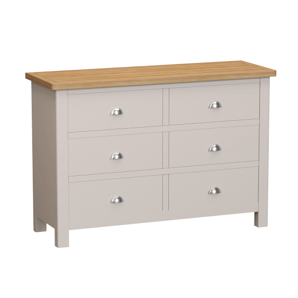 Padstow 6 Drawer Chest of Drawers - Truffle