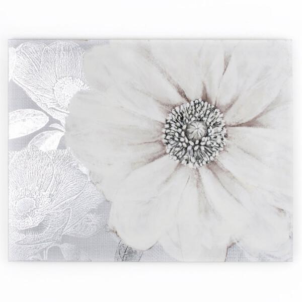 Grey Bloom Canvas