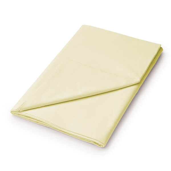 Helena Springfield Plain Dye Flat Sheet - Super King - Citron