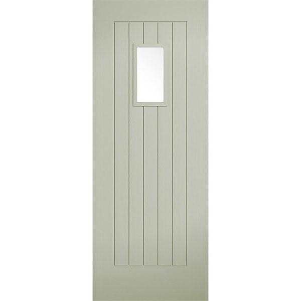 Suffolk - Sage - Composite Exterior Door - Glazed 2032 x 813 x 44