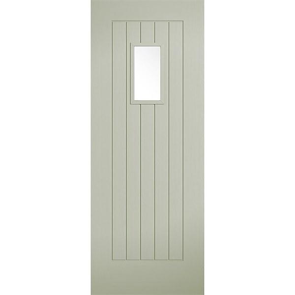 Suffolk - Sage - Composite Exterior Door - Glazed 1981 x 762 x 44