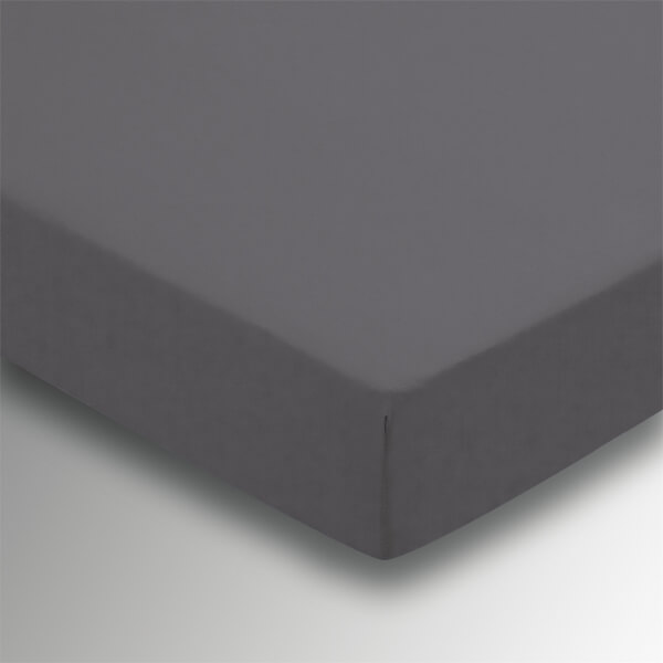 Helena Springfield Plain Dye Fitted Sheet - Single - Charcoal
