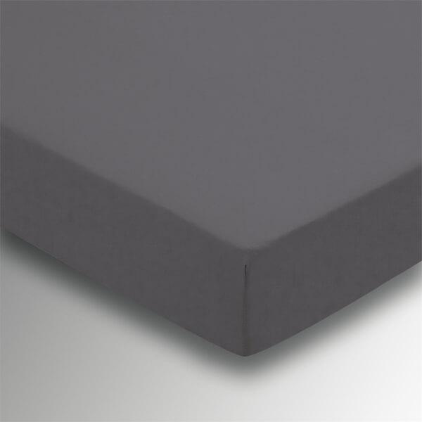 Helena Springfield Plain Dye Fitted Sheet - Super King - Charcoal