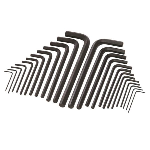 Silverline 25 Pieces Hex Key Long Series Metric & AF