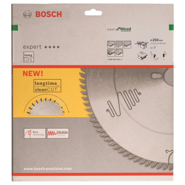 CSB Expert Wood Hand Held Circular Saw Blade - 250 x 30 x 3.2 x 40t