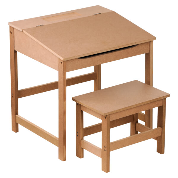 Kids Desk and Stool - Natural