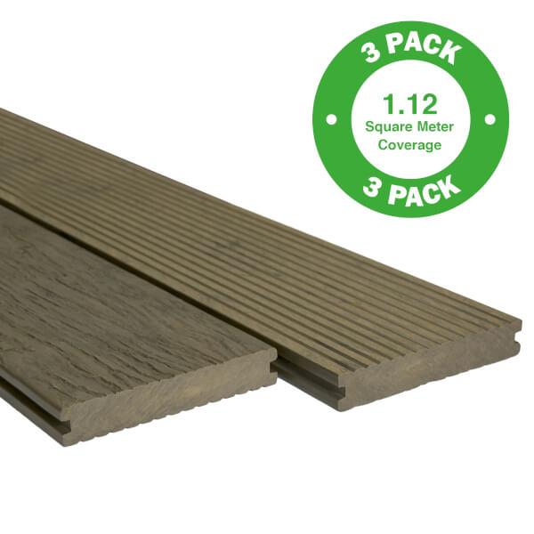 Heritage Board Composite Decking - 3 Pack - Oak - 1.12 m2