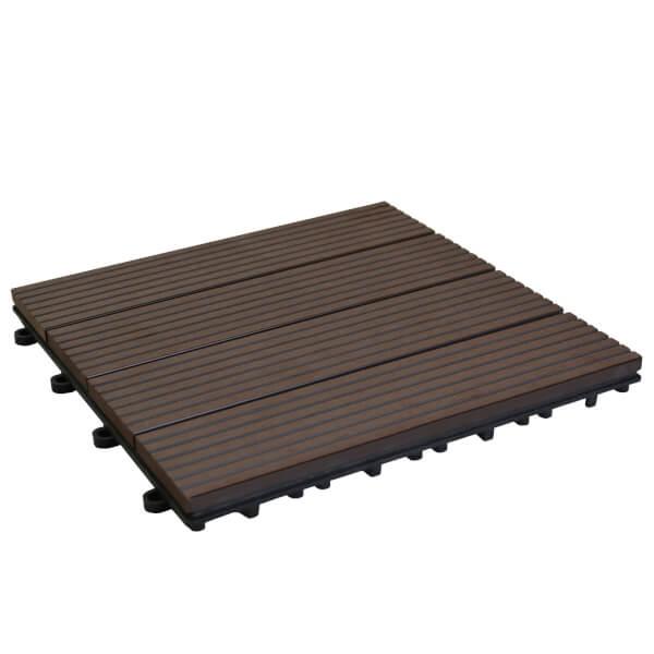 Composite Deck Tile set 30 x 30cm - Redwood - 1 sqm coverage