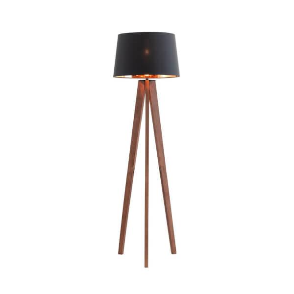 Poppy Walnut Floor Lamp