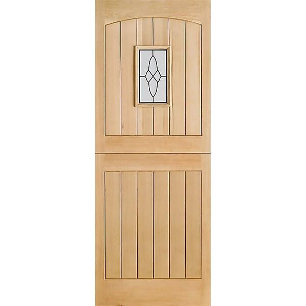 Cottage - Stable - 1 Lite Glazed Exterior Door - Oak - 1981 x 838 x 44