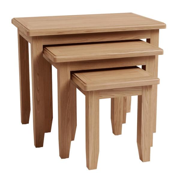 Kea Nest of 3 Tables - Oak