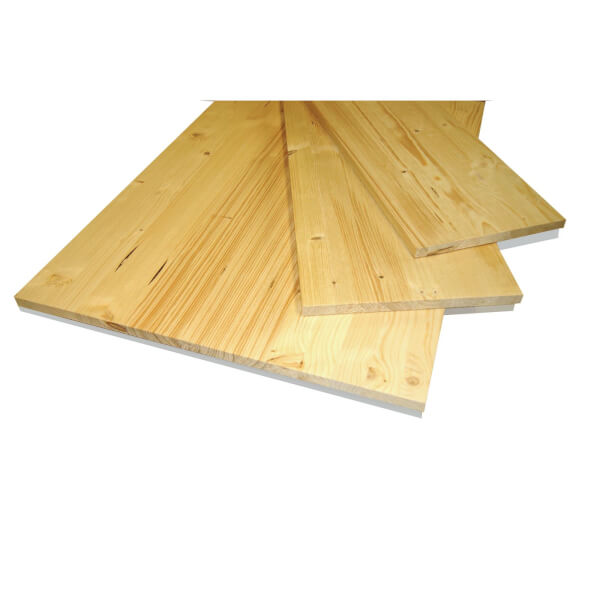 Solid Spruce Board - 18 x 200 x 1750mm