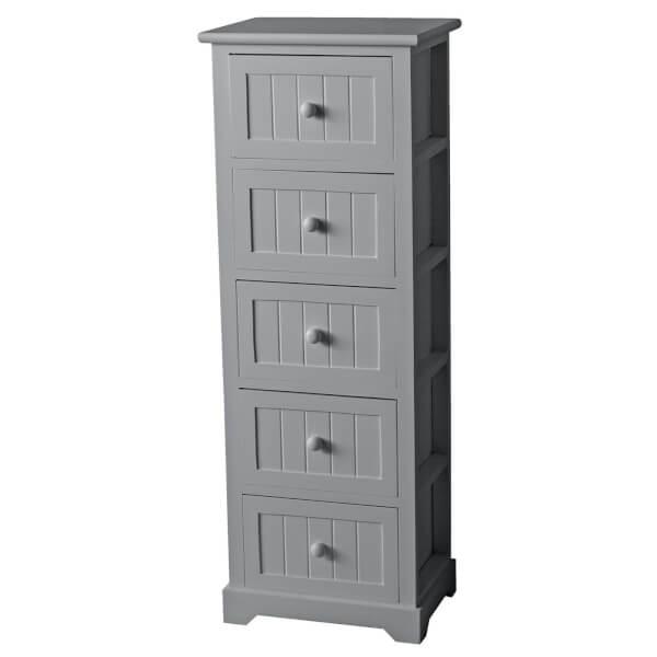 Classic 5 Drawer Unit - Grey