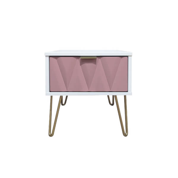 Ice 1 Drawer Bedside Table - Pink