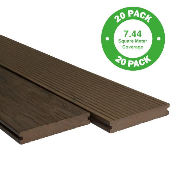 Heritage Composite Decking 20 Pack Cedar - 7.44 m2