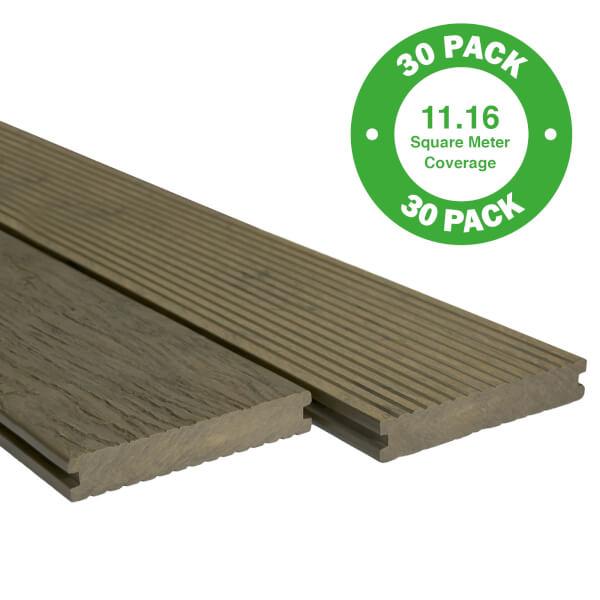 Heritage Composite Decking 30 Pack Oak - 11.16 m2