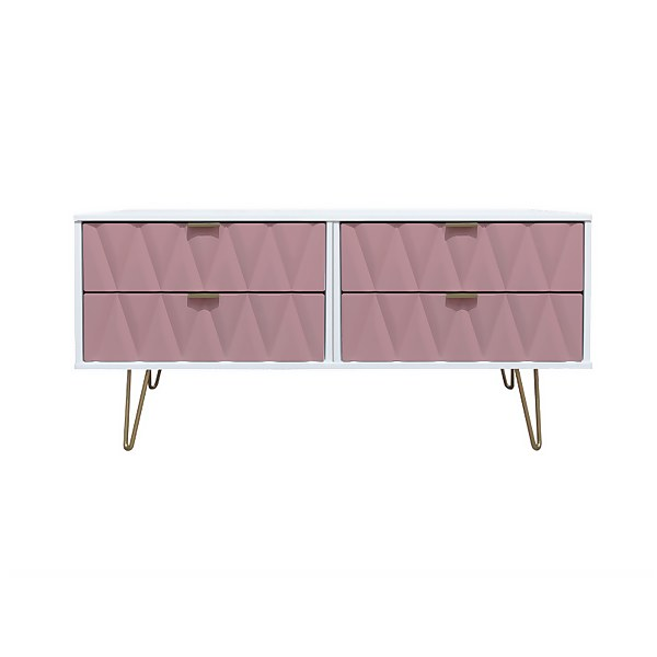 Ice 4 Drawer Bed Box - Pink