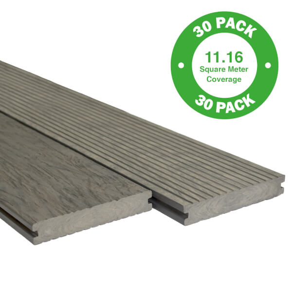Heritage Composite Decking 30 Pack Driftwood - 11.16 m2