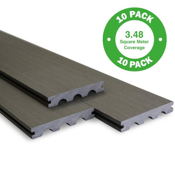 Bridge Board Decking 10 Pack Grey - 3.48 m2