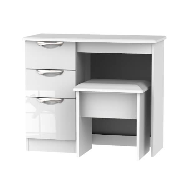 Portofino Dressing Table and Stool Set - White