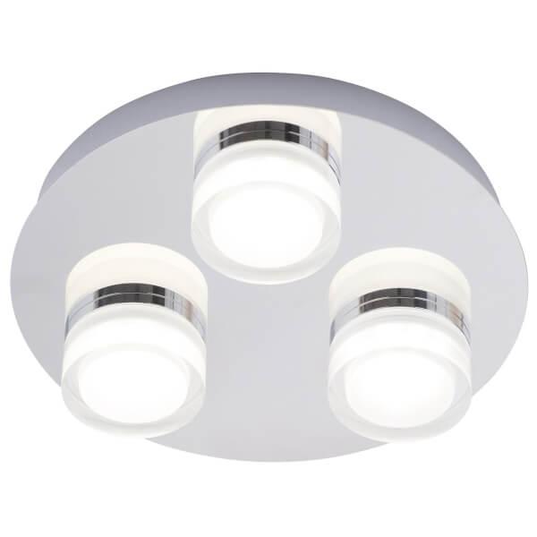 Amalfi 3 Plate LED Flush - Chrome