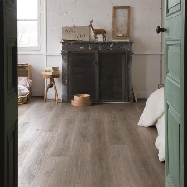 Quick Step Pensthorpe Oak Waterproof, Grey Laminate Flooring Homebase