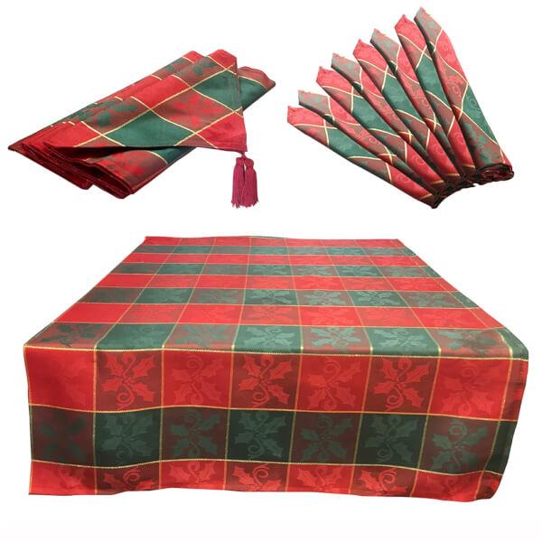 10 Piece Glory Tartan Table Linen Set