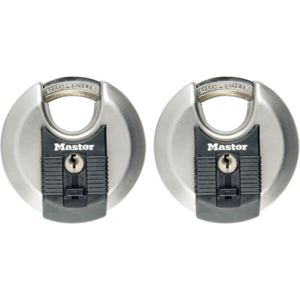 Master Lock Excell Discus Padlock - 70mm - 2 Pack