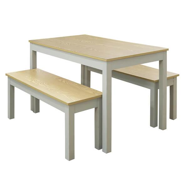 Ohio 4 Seater Dining Set - Grey & Oak