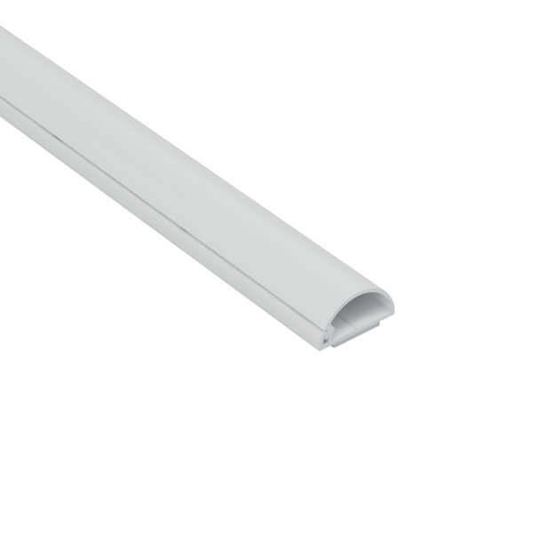 D-Line Micro+ Decorative Self Adhesive Trunking 20mm x 10mm x 2m White