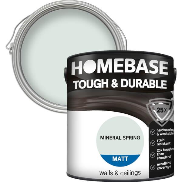 Homebase Tough & Durable Matt Paint - Mineral Spring 2.5L